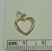 Small 14x11mm Gold filled Sterling Silver Thin Open Heart Charm