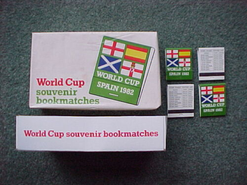 1982 World Cup Spain Bryant & May 25 x Books of Safety Matches MINT UNUSED