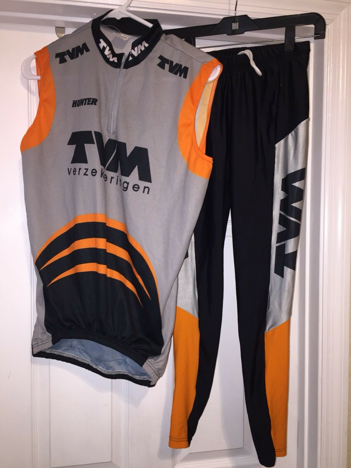 TVM Verzekeringen Cycling  Team T Suit Decathalon Hunter Triathalon Medium RARE   official authorization