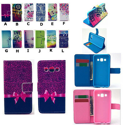 Classic Patterned  Style Leather Wallet Flip Case Cover For Samsung Smart Phones