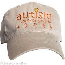 """Autism Hat """"Work for a Cure"""""""