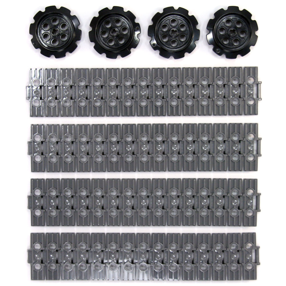 Lego 4x Genuine Technic Large Black Tyres Bright Red Wheels Hubs 94.3x38mm NEW