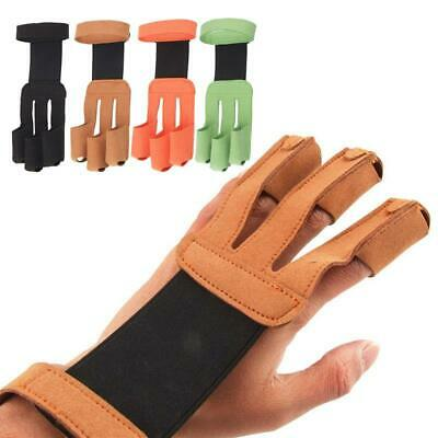 3 Finger Archery Hand Protective Glove Draw Bow Arm Guard Arrow Shooting