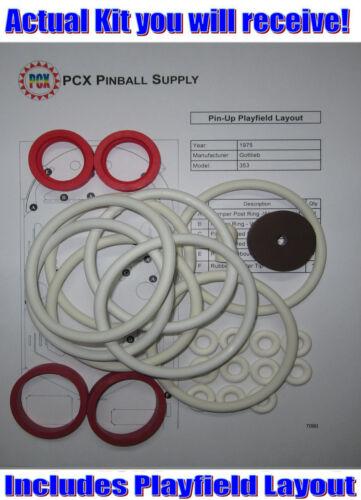 1975 Gottlieb Pin-Up Pinball Machine Rubber Ring Kit
