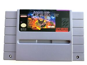 Populous-SNES-Super-Nintendo-Game-Tested-Working-amp-Authentic