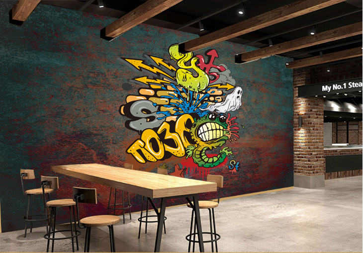 3D Cartoon Graffiti 738 Wallpaper Mural Paper Wall Print Wallpaper Murals UK