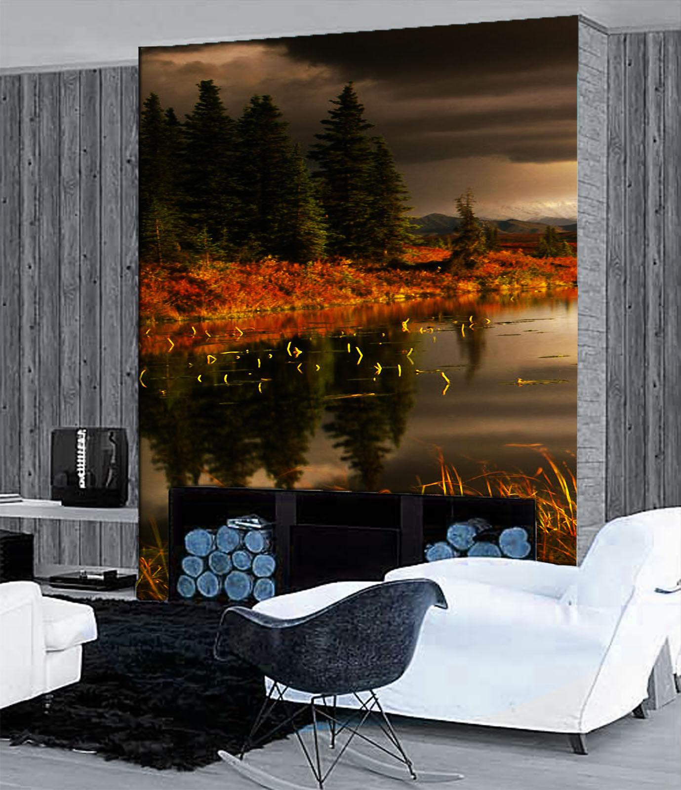 Papel Papel Papel Pintado Mural De Vellón Árboles Del Lago 3 Paisaje Fondo De Pantalla ES AJ 7f7f6d