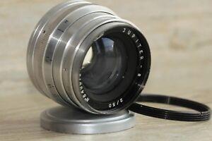 JUPITER-8-2-50-M39-soviet-lens-USSR-Sonnar-LEICA-gift-adapter-ring-m39-m42