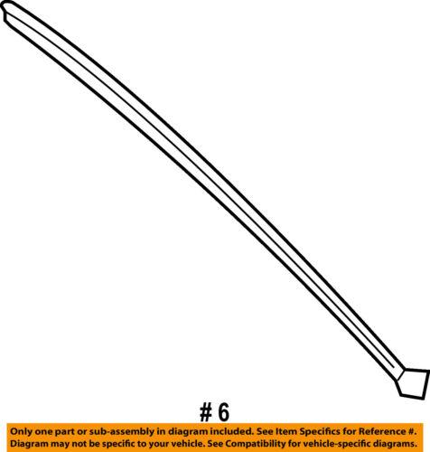 CHRYSLER OEM Windshield-Pillar Molding Left 4805889AC