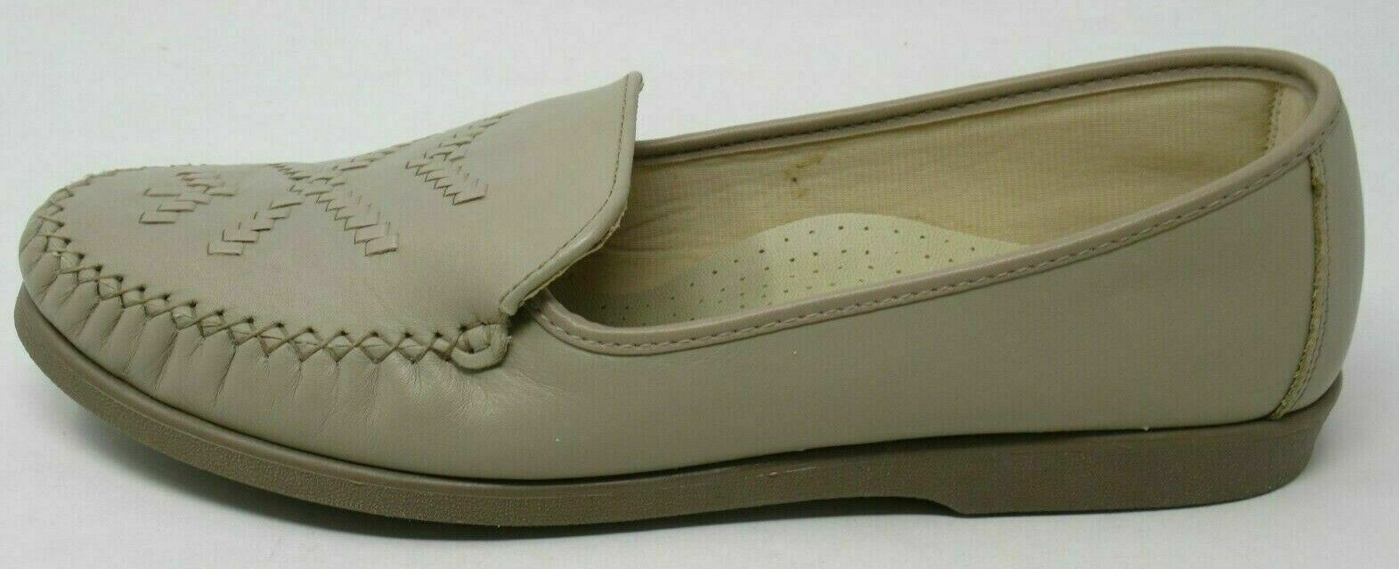 SOFTSPOTS WOMEN'S STELLA TAUPE LEATHER WOVEN SLIP-ON COMFORT LOAFERS SHOES 11/M