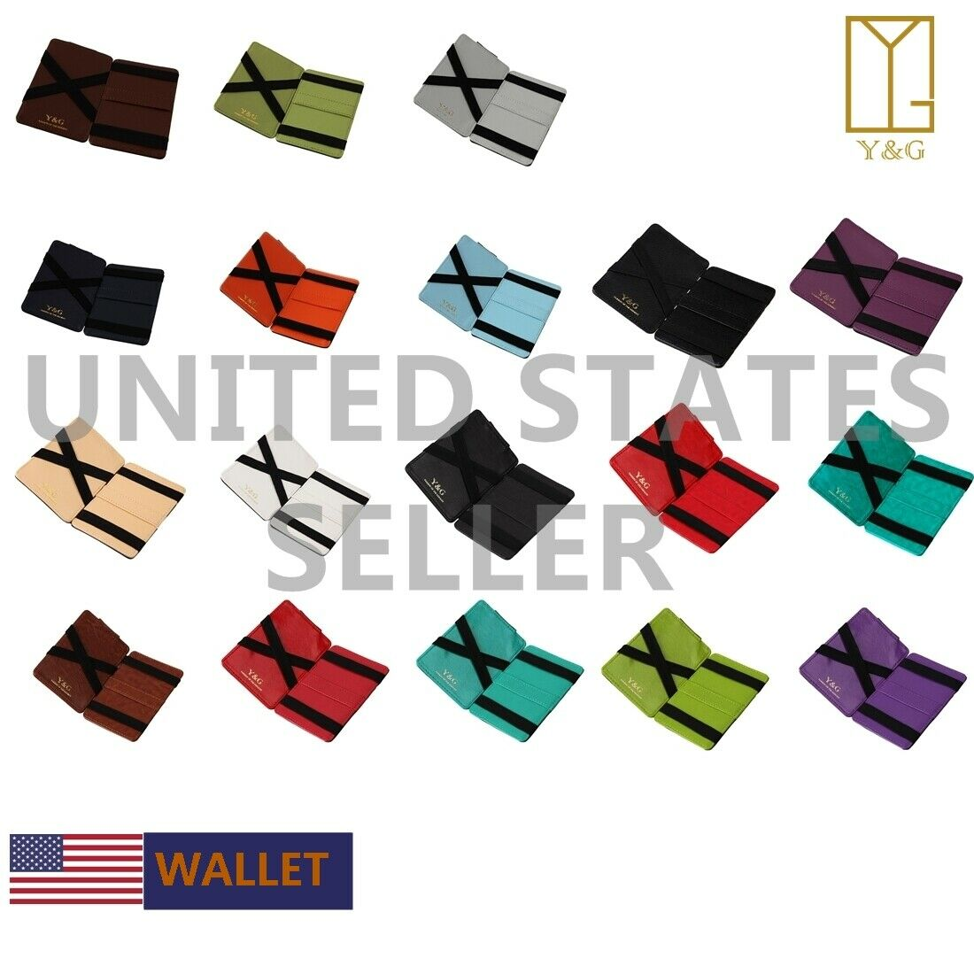 Multi-Color Magic Wallet Credit Card Holder Wedding Gift For Mens Gift Y&G YK04