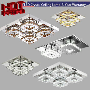 Led Crystal Ceiling Light 12w 48w