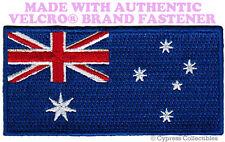 AUSTRALIA NATIONAL FLAG PATCH EMBROIDERED DOWN UNDER w/ VELCRO® Brand Fastener