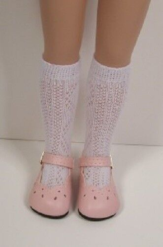 """PINK Scallop Doll Shoes For Tonner 14/"""" Betsy McCall Light Debs LT"""