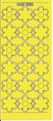 Cáscara Offs Flores gran selección de coloridas peel-offs