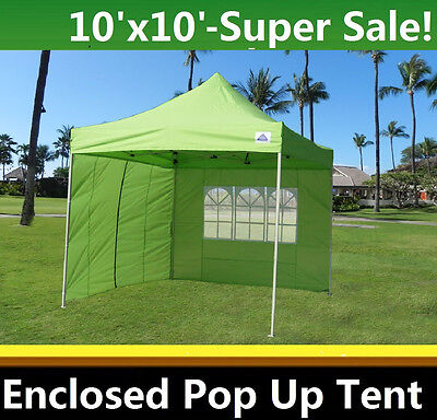 competitive price ca967 f40df 10'x10' Enclosed Pop Up Canopy Party Folding Tent Gazebo - Emerald - E  Model 799418238647 | eBay