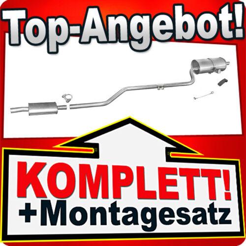 E11 Auspuff TOYOTA COROLLA 1.6 Liftback Stufenheck Kombi Auspuffanlage P81