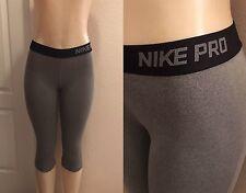 Nike pro womens Dri fit legging capri pants gray size small Gym Yoga Workout