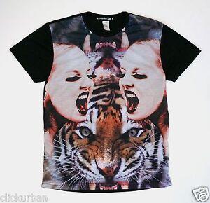 4e537e2a4 KAYDEN.K Men's Sublimation T-shirt Roaring Tiger Woman Size S - XL ...