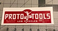 Proto Tools Los Angeles decal for restoration of vintage tool box  6 1/4? Long