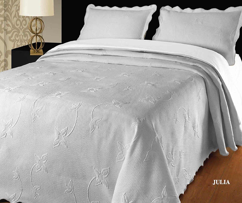 Luxury Weiß Throw Quilted Bedspread Comforter 240 x 260 cm Fits Double Größe Bed