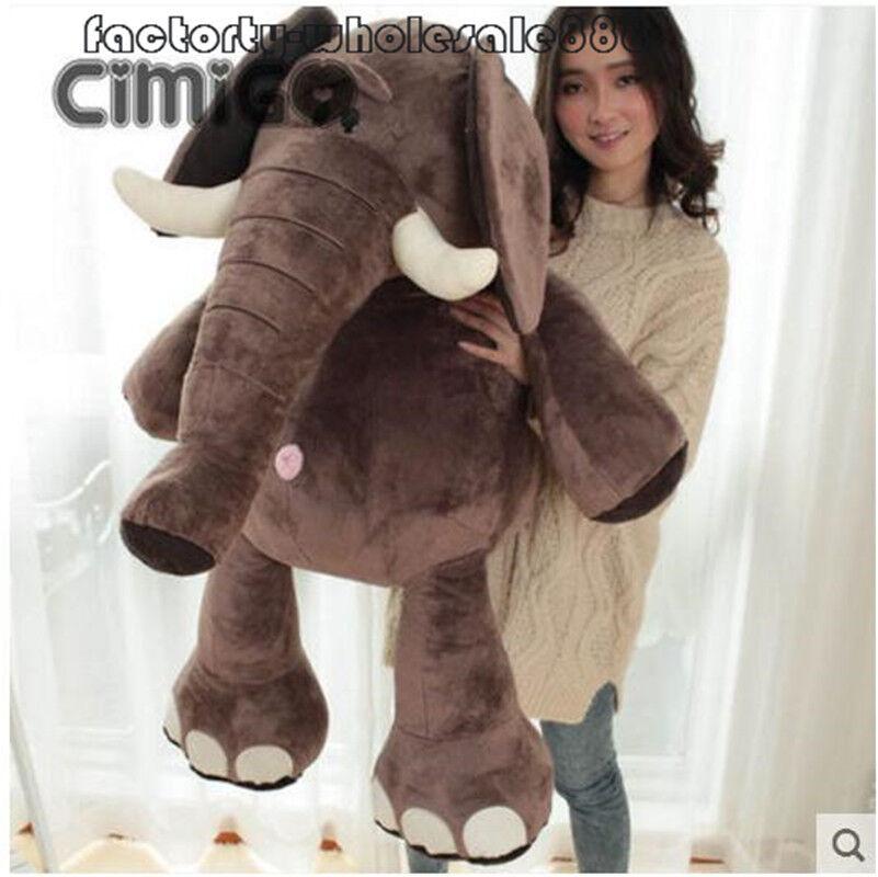 43''Giant Huge big Elephant Soft Plush Toys Kids Bedroom Stuffed animals Pillow