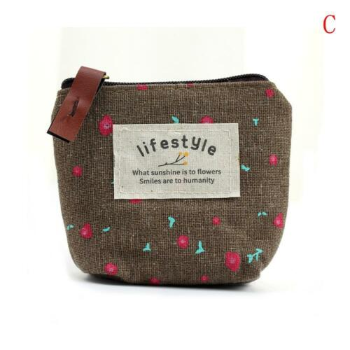 Neu 1pc Cactus Flowers Patterned Canvas Pencil Case Make Up Coin/_Bags!