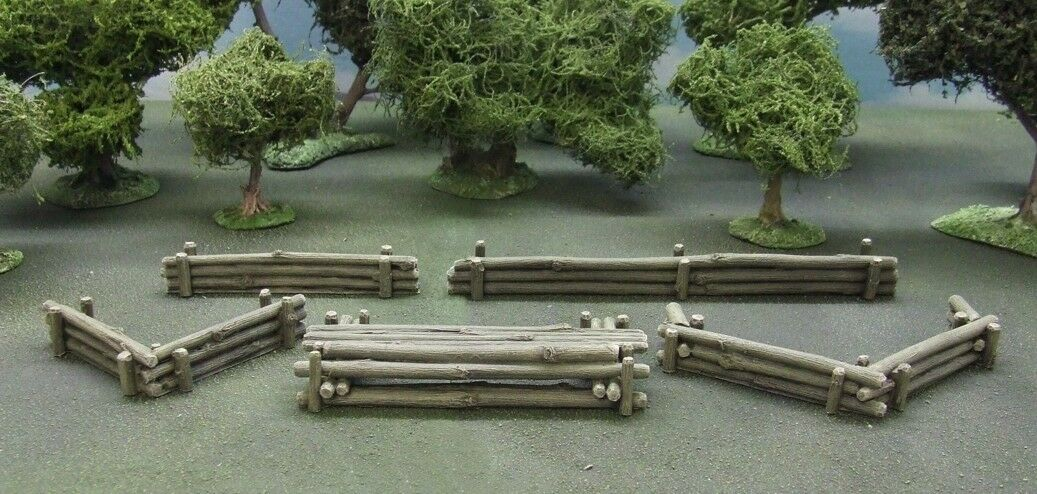 28MM EAST FRONT MANNERHEIM LINE LOG DEFENCES - PAINTED TO COLLECTOR'S STANDARD