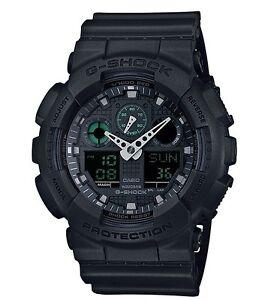 Casio G Shock *GA100MB-1A Anadigi Military Black w/ Green Gshock COD PayPal