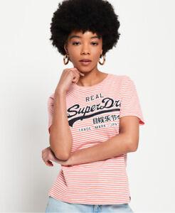 Superdry Womens Vintage Logo Stripe T-Shirt