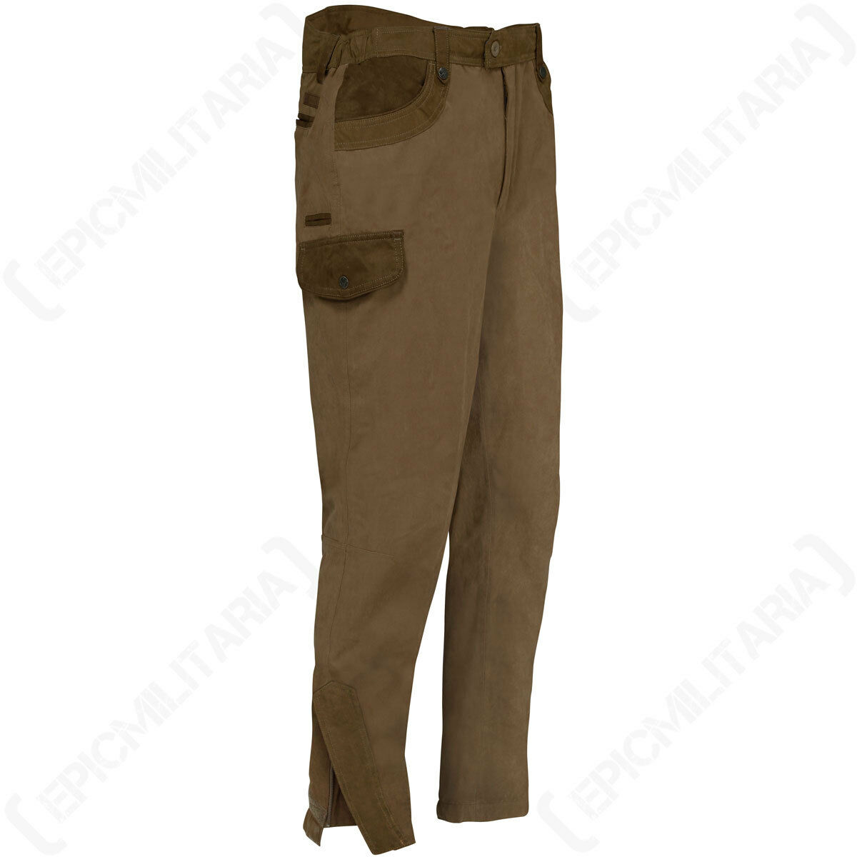 Rambouillet Caccia Pantaloni Bronzo - Impermeabile Inverno Tiro Pesca Pantaloni