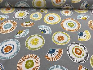 Orange Cotton 140cm Wide Curtain Fabric