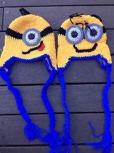 d1724e2725a Kids Baby Boy Girl Warm Knit Cute Minion crochet Beanie Hat Cap ...