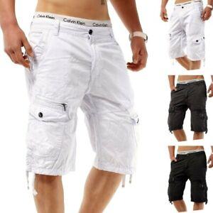 Pantalon-court-pour-homme-Cargo-Capri-Shorts-Adventure-Jeans-ete-Bermuda-court