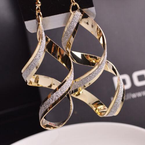 New Women Wedding Crystal Rhinestone Drop Dangle Earrings Party Gift Hook Hoop