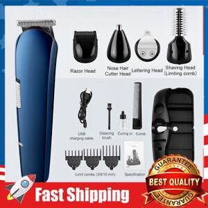 8in1 Men Electric Shaver Razor Hair Clipper Cordless Grooming Beard Trimmer Set