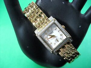 BULOVA-CARAVELLE-45L003-LADIES-DRESS-WATCH-GOLD-PL-MOTHER-OF-PEARL-DIAL-ANALOG