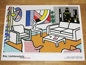 """Roy Lichtenstein Exhibition Poster /"""" the Oval Office /"""" 1994 Pop Art Original"""