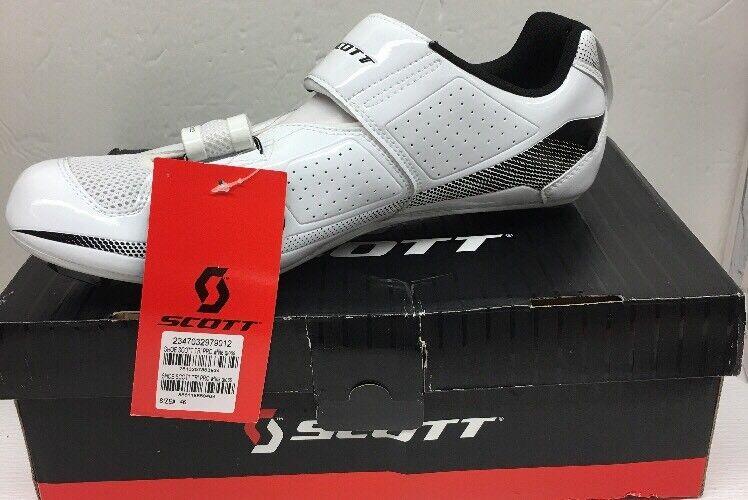Scott Tri Pro Men's Bike Footwear Size 11.5 White Gloss (L)