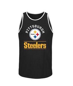 NFL Pittsburgh Steelers Majestic Go Far Tank Top - Black - Men s ... faca1af7d