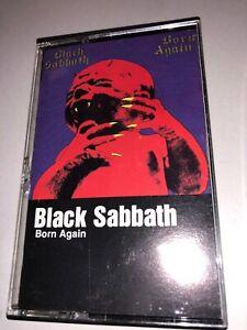 BLACK-SABBATH-Born-Again-US-WB-Heavy-Metal-Cassette-Tape-1983