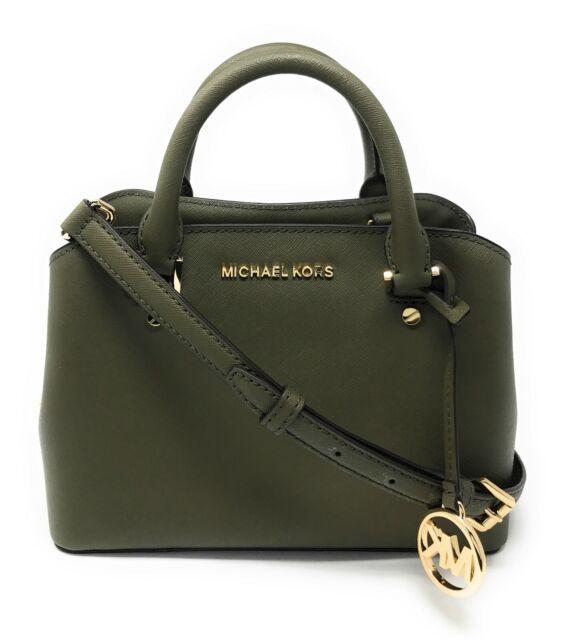 Michael Kors Savannah Small Satchel Crossbody Leather Bag
