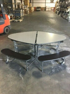 Elliptical Portables Break Tables Foldable and Mounted on Wheels for - 5 Avail!