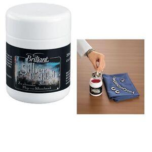 Schmuckpflege-Silberbad-Brillant-200ml-Silber-Glanz-Tauchbad-Silberputzmittel