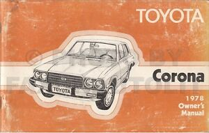 1978 toyota corona owners manual rt105 rt115 rt119 owner instruction rh ebay ie 1972 Toyota Corona 1972 Toyota Corona