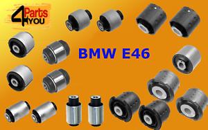 BMW-3-E46-Eje-Trasero-Brazo-De-Arrastre-SUBFRAME-ARBUSTOS-BUJE-Kit-Set