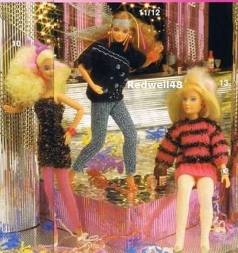 BARBIE ACTION MAN SMALL DOLL CLOTHES KNITTING PATTERNS ON CD Buy2 Get1 FREE 60