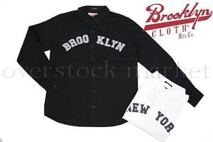 New-Mens-Brooklyn-Cloth-Mfg-Co-Slim-Fit-Broad-Cloth-Button-Front-Shirt-Variety