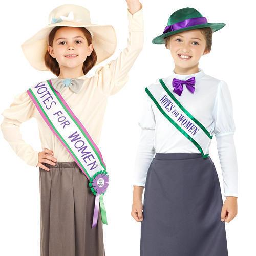 Suffragette Girls Fancy Dress World Book Day Dickens Childrens Kids Costumes New