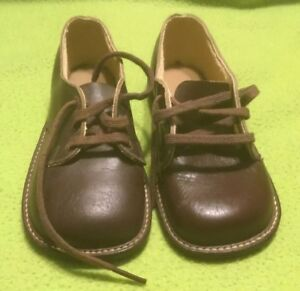 b2f3ae765cdf2 Details about Vintage ~ Baby Shoes ~ Oxford ~ Leather ~ Dark Brown